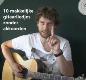 10 makkelijke gitaarliedjes zonder akkoorden